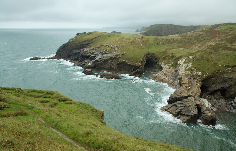 View northeast from Tintagel Head