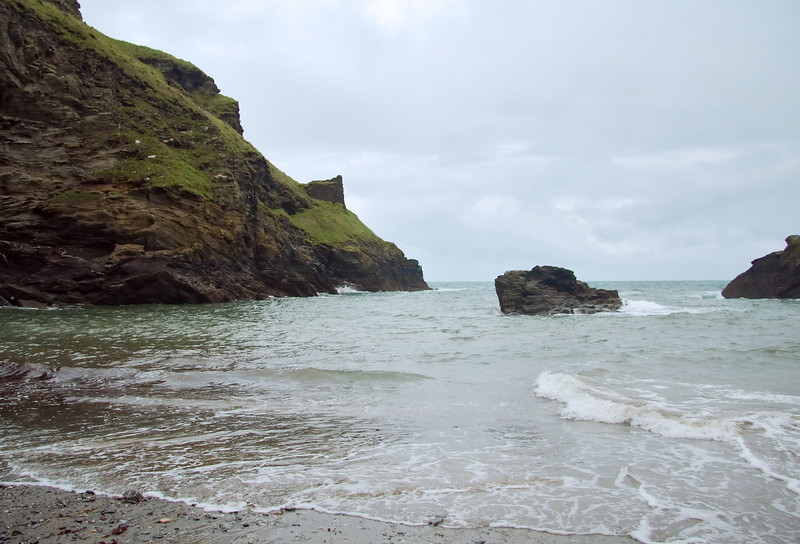 Beach level at Tintagel