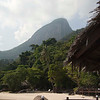 Mountains behind the resort of Bagus