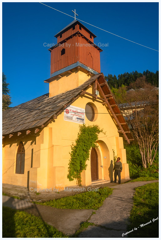 St. Mary's Church (Built in mid-19th Century) and the Priest | Kotgarh