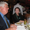 Peter V. & Barbara Stewart, dining @ Degrees before the farewell party