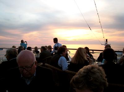 sunset dinner at La Marche