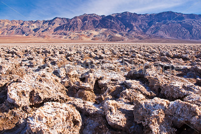 Landscape at Devil's Golf Course in Death Valley