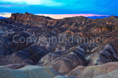From Zabriskie Point in Death Valley NP