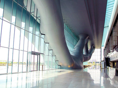 Interior promenade of the Qatar Convention Center
