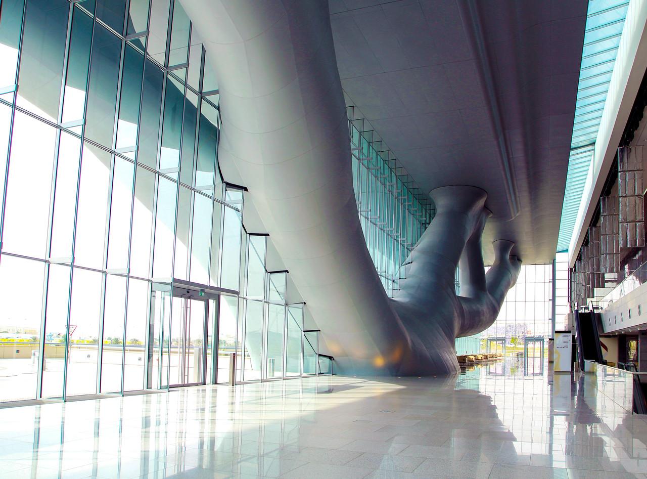Interior promenade of the Qatar Convention Center