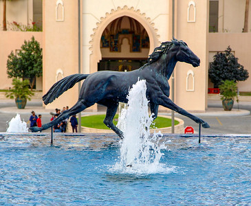 Horse fountain in front of the St. Regis