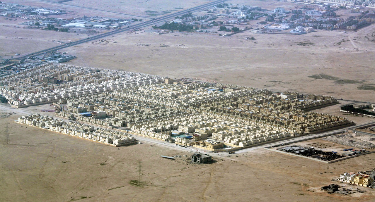 Tract housing further south of Doha