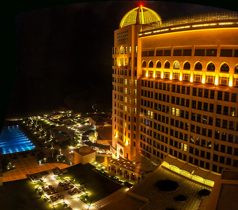 The St. Regis hotel at night