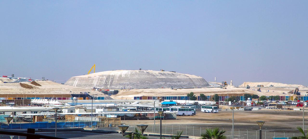 Some major earthworks near the Doha St. Regis