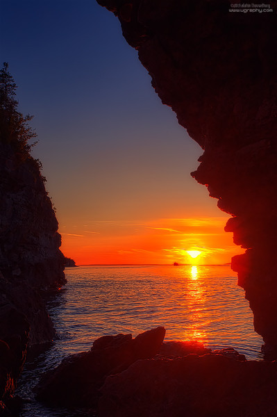 Grotto cave sunset