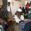 The Chief welcomes visitors and family members - Aouwa, Benin