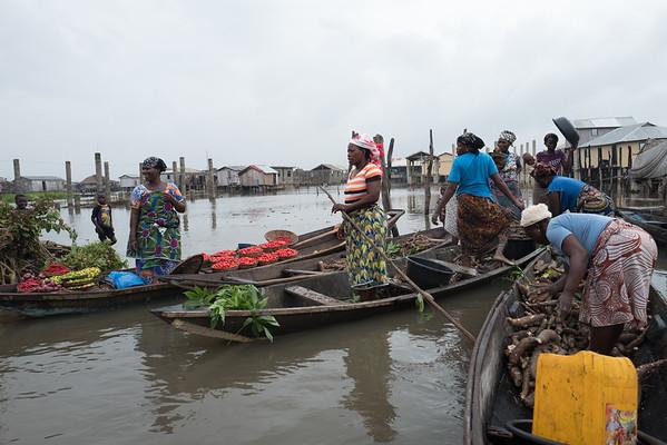Market at Ganvie Lake Village - Benin