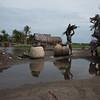 Salt mining - Ouidah, Benin