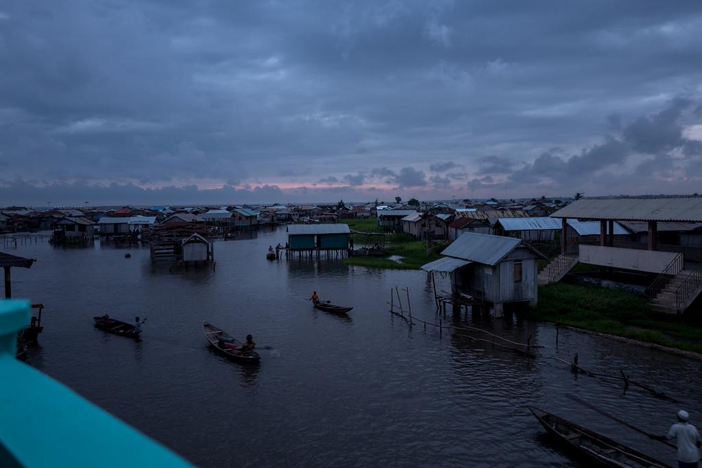 Night at Ganvie Lake Village - Benin