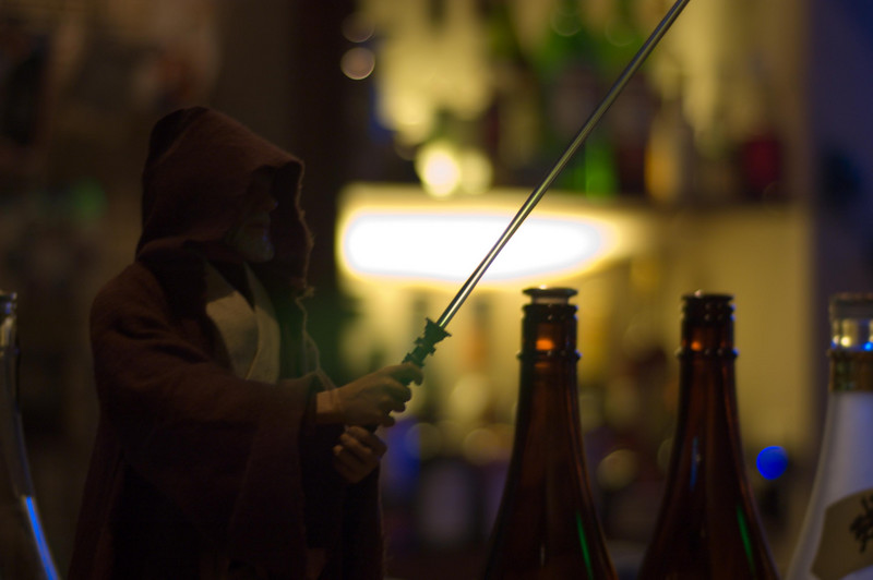 One end of the bar at Higashi Nakano's Bar Penetrate, the best Star Wars/Hip-Hop themed bar I've ever been to.