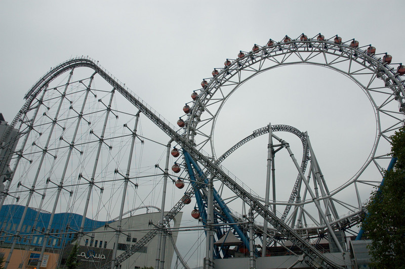 There's an amusement park outside the Big Egg. This pic actually doesn't do justice to the insane roller coaster there.