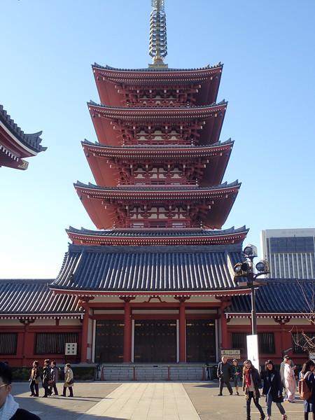 Sensō-ji temple, the oldest in Tokyo.