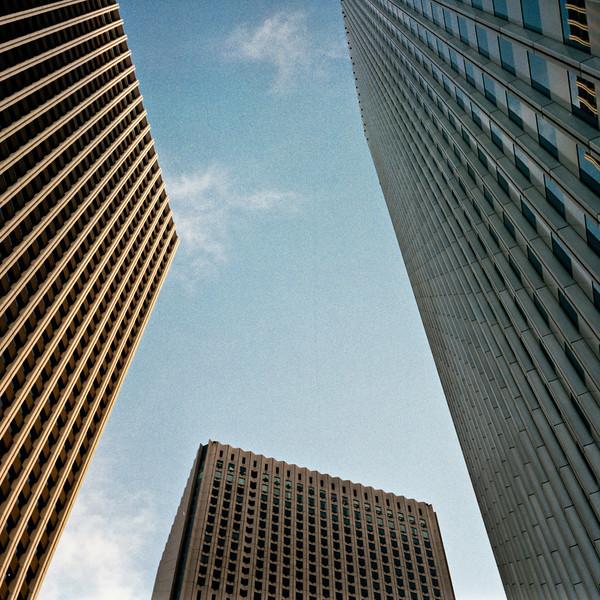 Office Towers, Shinjuku, Tokyo, 1985<br /> Bronica SQ-A, Kodacolor 400