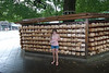 Alexa standing in front of thousands of prayers.