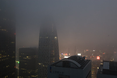 View from Keio Plaza Hotel on a rainy night