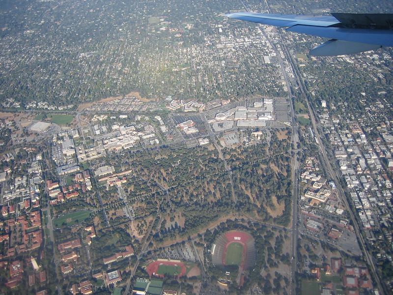 Flying over Stanford