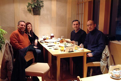 Sushi dinner with Masa, Rene, Roberto and his wife Patrizia.
