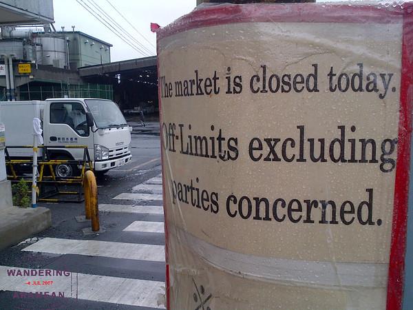 Alone in Tokyo's Tsukiji Market