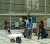 Fashion shoot outside the Tokyo International Forum