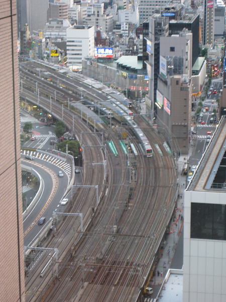 Commuting is a way of life, hence the dense train tracks in the middle of the city.