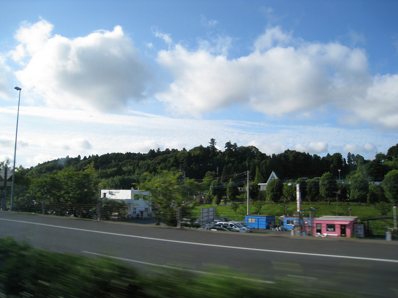 On my drive from Narita airport to Ginza.