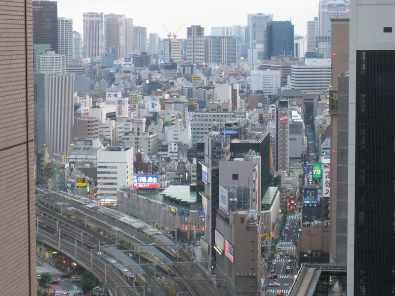 View of a busy Tokyo from my hotel room.