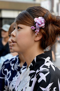 """Ladies pose at Asakusa shrine at Taito, Tokyo 111-0032, Japan. Tokyo (東京 Tōkyō) """"Eastern Capital"""" is one of the 47 prefectures of Japan. Tokyo is the capital of Japan, the center of the Greater Tokyo Area, and the largest metropolitan area in the world. It is the seat of the Japanese government and the Imperial Palace, and the home of the Japanese Imperial Family. Tokyo is in the Kantō region on the southeastern side of the main island Honshu and includes the Izu Islands and Ogasawara Islands. Tokyo was originally a small fishing village named Edo  which means """"estuary""""."""
