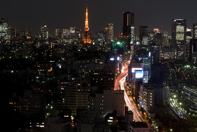 View from 30th floor, Le Meridian Pacific Hotel, Shinagawa, Tokyo
