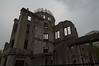 The Atomic Bomb Dome in Hiroshima. The bomb exploded almost directly above the dome.