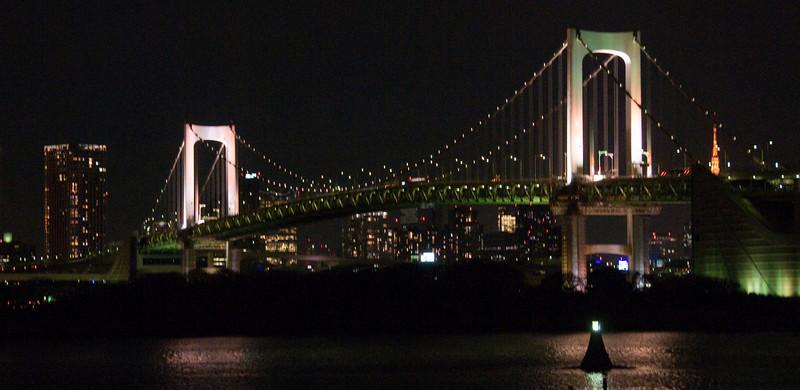 Rainbow Bridge, Tokyo, Japan as seen from Daiba