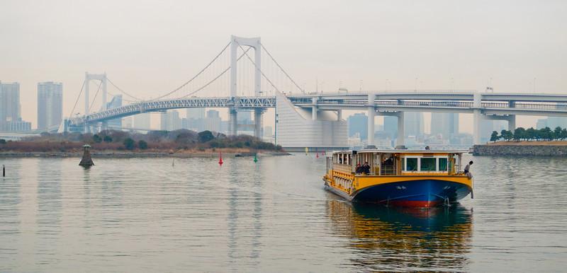 View from Daiba of Rainbow Bridge