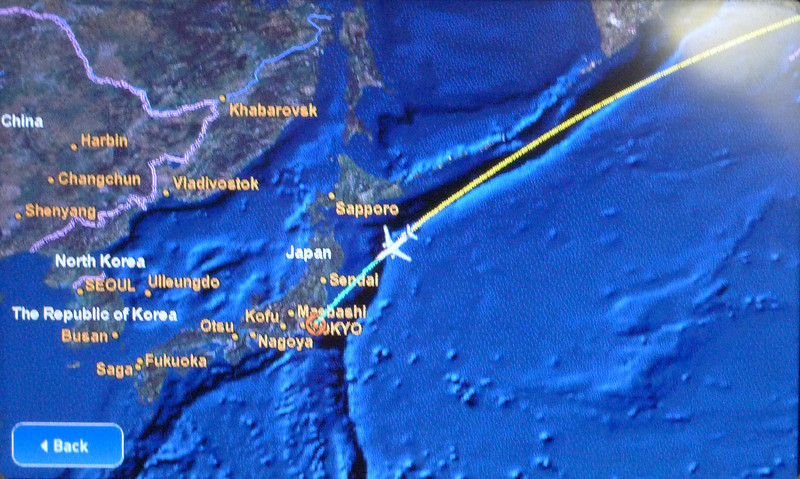 Flight path from Atlanta to Tokyo