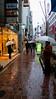 Rainy streets of Tokyo near Ginza