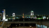 Rainbow Bridge, Tokyo, Japan as seen from Daiba
