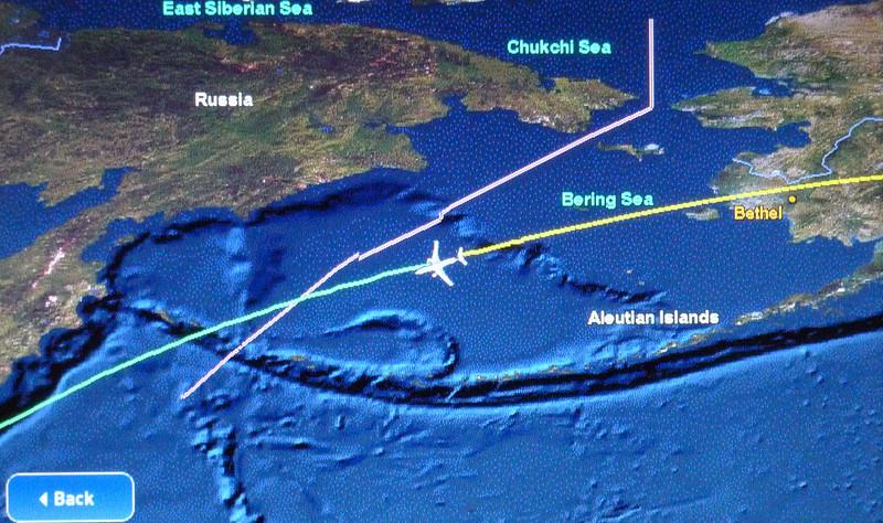 Flight path from Atlanta to Tokyo