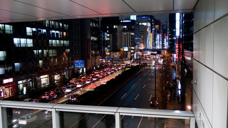 View from Shimbashi train station