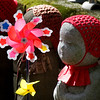 There are hundreds of colourfully clothed and decorated stone jizo (Ojizo Sama) statues. The Jizo statues are used in the ceremonies for burial of infants and special ceremonies for the souls of unborn and stillborn children.