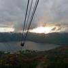 Coming down on the Mt. Komagatake Ropeway