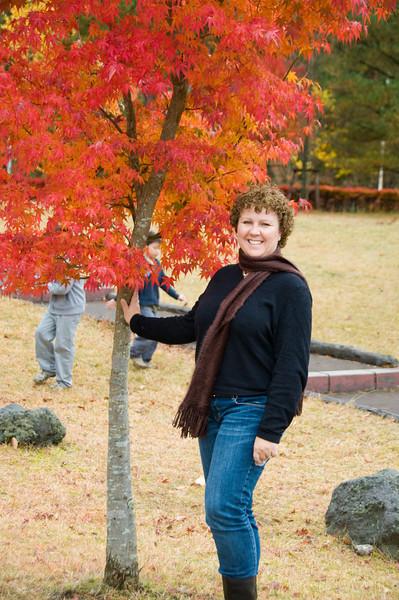 Elaine at the Mt. Fuji visitors center