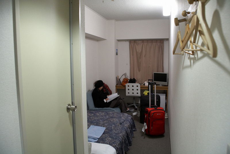 Our very, unspacious, first hotel in Tokyo in the Ikebukuro district. We left for Kyoto the next morning.