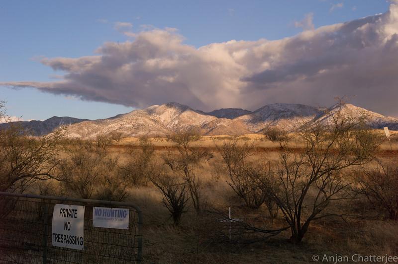 Arizona Mountains near Mexico Border.