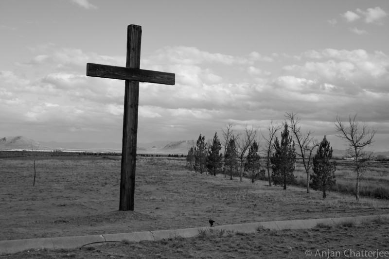 Church cross on the way to Tombstone