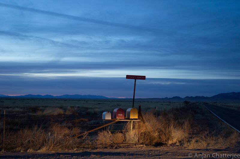 Dusk at the Creasey Ranch, Arizona