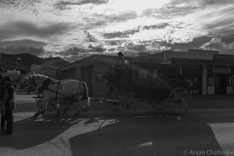 Saddle Wagon on Tombstone main street.
